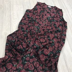 LuLaRoe Rose Floral Joy Duster Vest - sz M